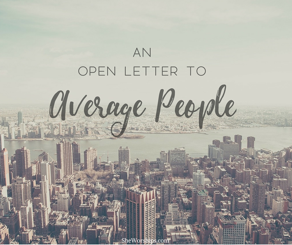 AN OPEN LETTER TO